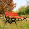 供应献县瑞达户外公园排椅实木休闲长椅