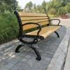 供应献县瑞达塑木公园椅休闲广场靠背扶手椅