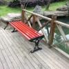 供应献县瑞达园林平凳 铸铝脚木质长条凳