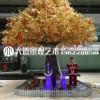 仿真大树 假树 仿真榕树大型 植物客厅发财树 实木树干装饰