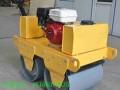 回填土振动压路机3吨小型震动压路机手推式一轮轧道机